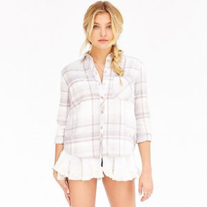Urban Outfitters BDG ruffle plaid flannel